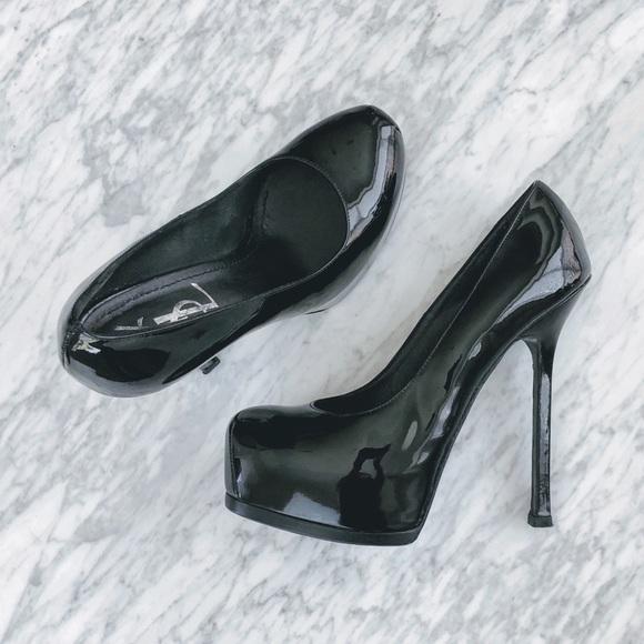 Yves Saint Laurent Shoes - YSL Patent Leather Platform Pumps